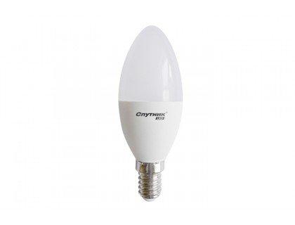 СПУТНИК LED7-С37-/E14 свеча 7Вт 160-260B 3000K