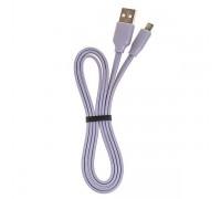 Кабель USB CRONAX CR-03m (2A - 1 м.) резиновый плоский