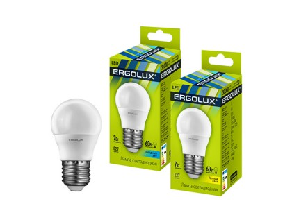 ERGOLUX LED 7-G45/830/E27