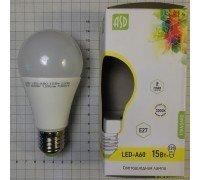 ASD LED 15-A60-E27-3000 лампа светодиодная 15Вт 210-240В тёплая