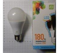 ASD LED 20-A60-E27-4000 лампа светодиодная 20Вт 210-240В холодный свет