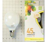 ASD LED 5-C45-E14-3000K лампа светодиодная шар 5Вт 210-240В тёплый свет