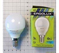 ERGOLUX LED 5-G45-845-E14 шарик 5Вт 220В