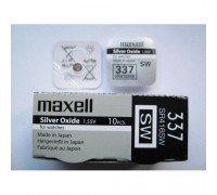 MAXELL №337 SR416SW BL1 10 шт/кор часовые