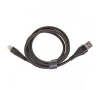 Кабель USB CRONAX CR-01i (2A - 1 м.) резиновый круглый под змею