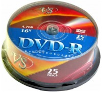 VS Диски DVD-R Cake 25 шт/кор