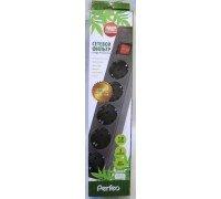 PERFEO Сетевой фильтр 5р3м коричневый