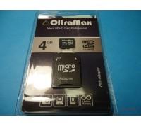 OLTRAMAX 4 GB micro SD карта памяти 4 класс с адаптером