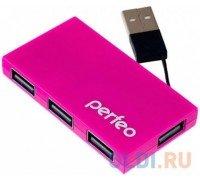 PERFEO USB-ХАБ 4 порта (PF-VI-H023) розовый