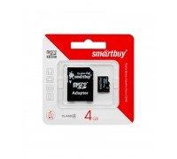 SMART BUY 4 GB SDHC карта памяти 4 класс с адаптером