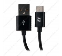 ELTRONIC КАБЕЛЬ USB-TUPE(C) 7754 круглый чёрный 1 метр.