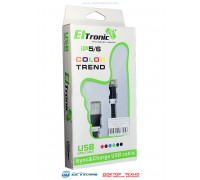 ELTRONIC КАБЕЛЬ USB-iPhone 5-8 7774 чёрный