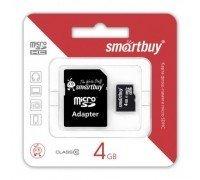Micro SD Smart Buy/4GB карта памяти Class 10