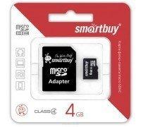 Micro SD Smart Buy/4GB карта памяти Class 4