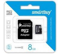 Micro SD Smart Buy/8GB карта памяти Class 4