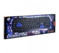 PERFEO PF-031 клавиатура ROBOTIC Multimedia USB GAME DESIGN чёрная