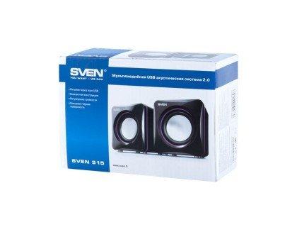 Акустическая система SVEN 315,2.0, мощ.2*2,5Вт. (RMS)