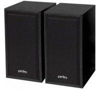 Колонки PERFEO Cabinet 2.0, 2*3Вт USB бук чёрное дерево 84 ВК