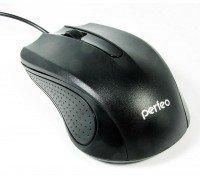 Мышь оптическая проводная PERFEO/PF-353 1,8 м,черная