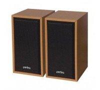 Колонки PERFEO Cabinet 2.0, 2*3Вт USB бук дерево 84 WD
