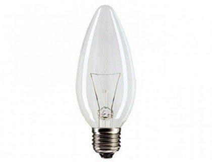 Эл. лампа 40/E27/ СВЕЧА с прозрачной колбой