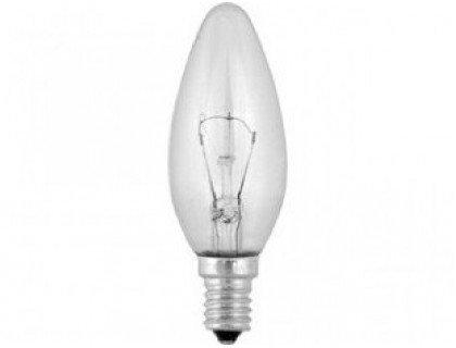 Эл. лампа 40/E14/ СВЕЧА с прозрачной колбой