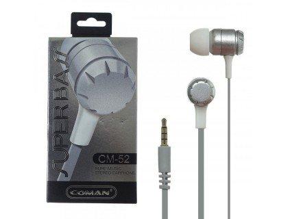 COMAN CM-52 Стерео-гарнитура (серебро, синяя)