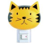 Ночник-кошка с выключателем CAMELION NL-003 (Лампочка Е14 не более 7 Ватт)
